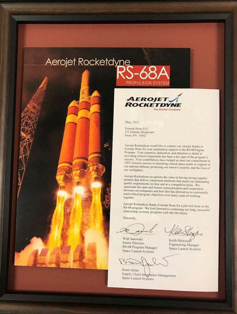 Apprezzamento da Aerojet Rocketdyne