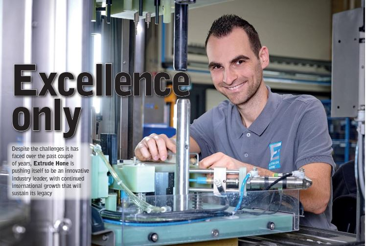 """Extrude Hone presente in """"Manufacturing Today"""""""